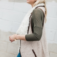 Faux-Shearling Vest and Lucchesse Boots